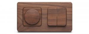 Silvaluxe houten stopcontact