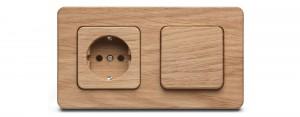 Design Eiken wandcontactdoos